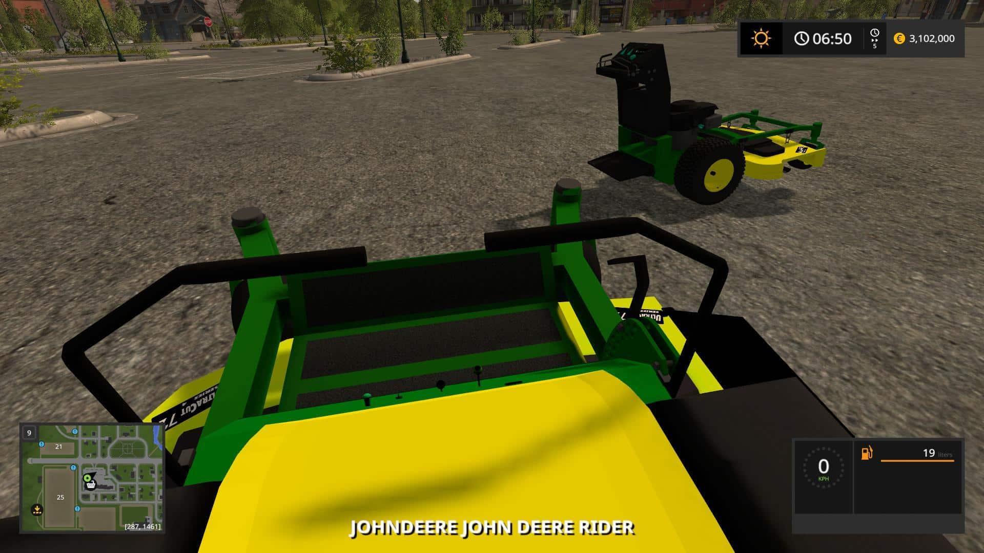 John Deere Zero turn Converted from FS15 to FS17 v1.3
