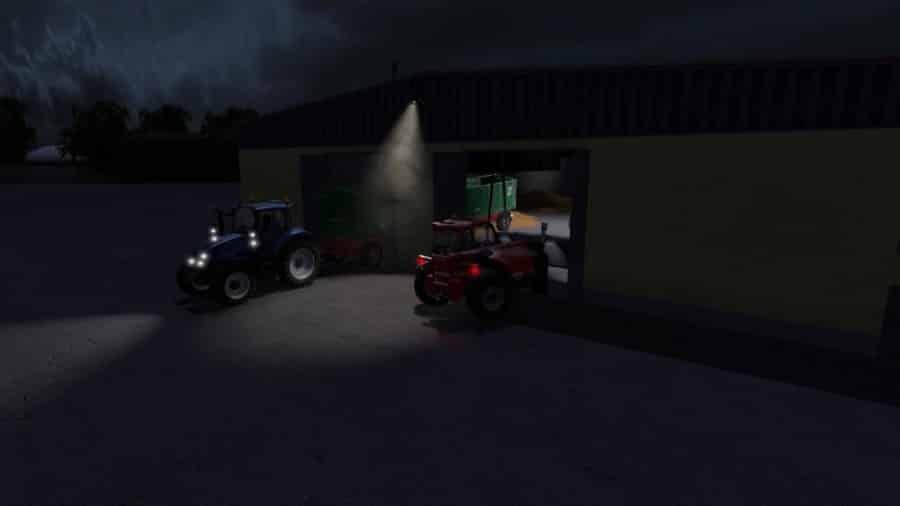 GDR Grain Store with lighting (Prefab) v1.0