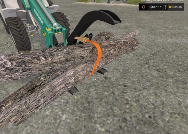 Stoll log grapple with strap v1.2