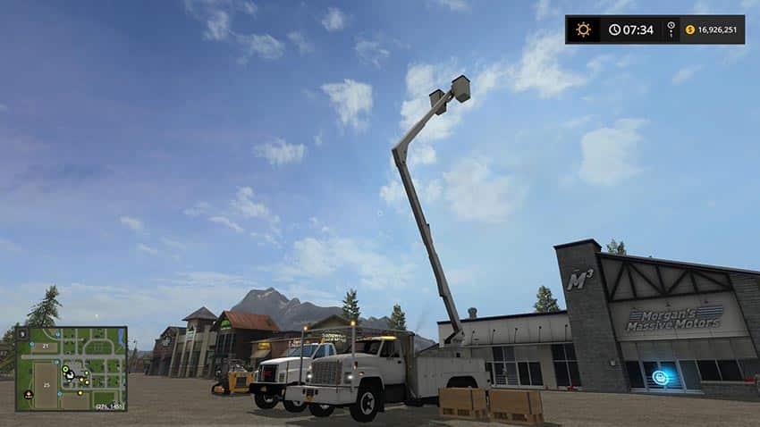 GMC TopKick Bucket Truck v 1.0
