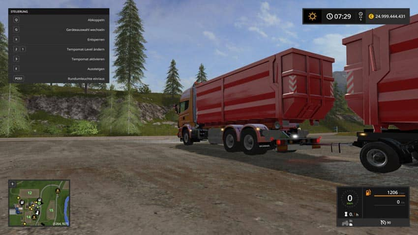 SCANIA V8 HKL with rail Trailer V 1.0.2 [MP]