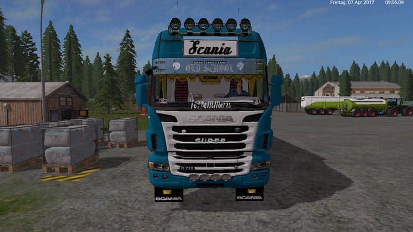 Scania R730 with tarpaulin in crown-Skin V 1.1 [MP]