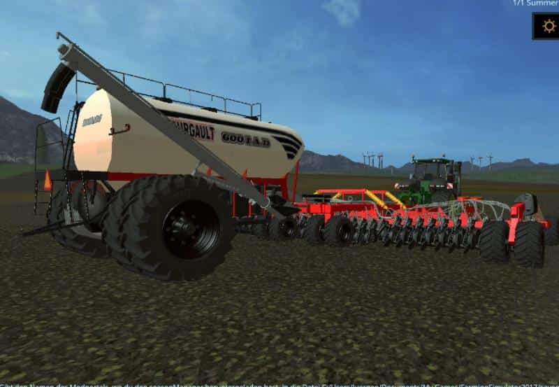 Bourgault IADS direct drilling machine with fertilization v1.0