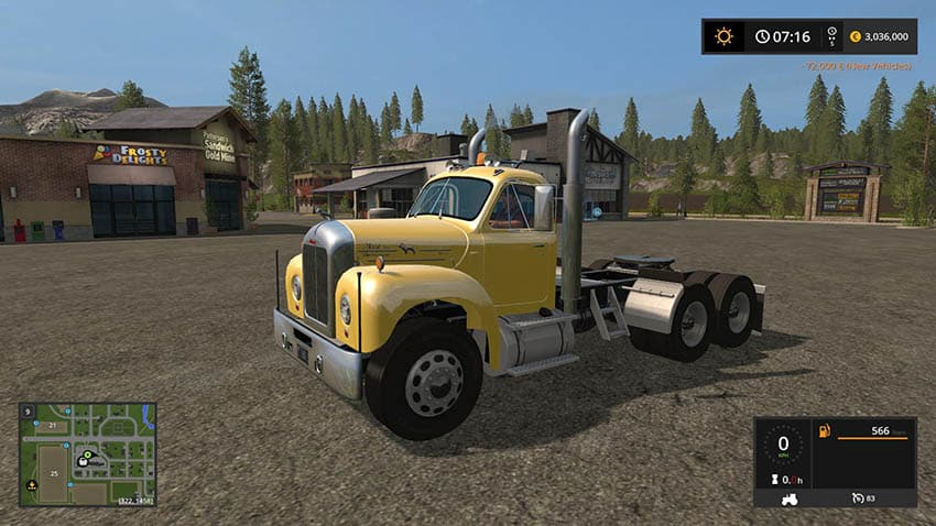Old Mack b61 v8 truck v 1.0