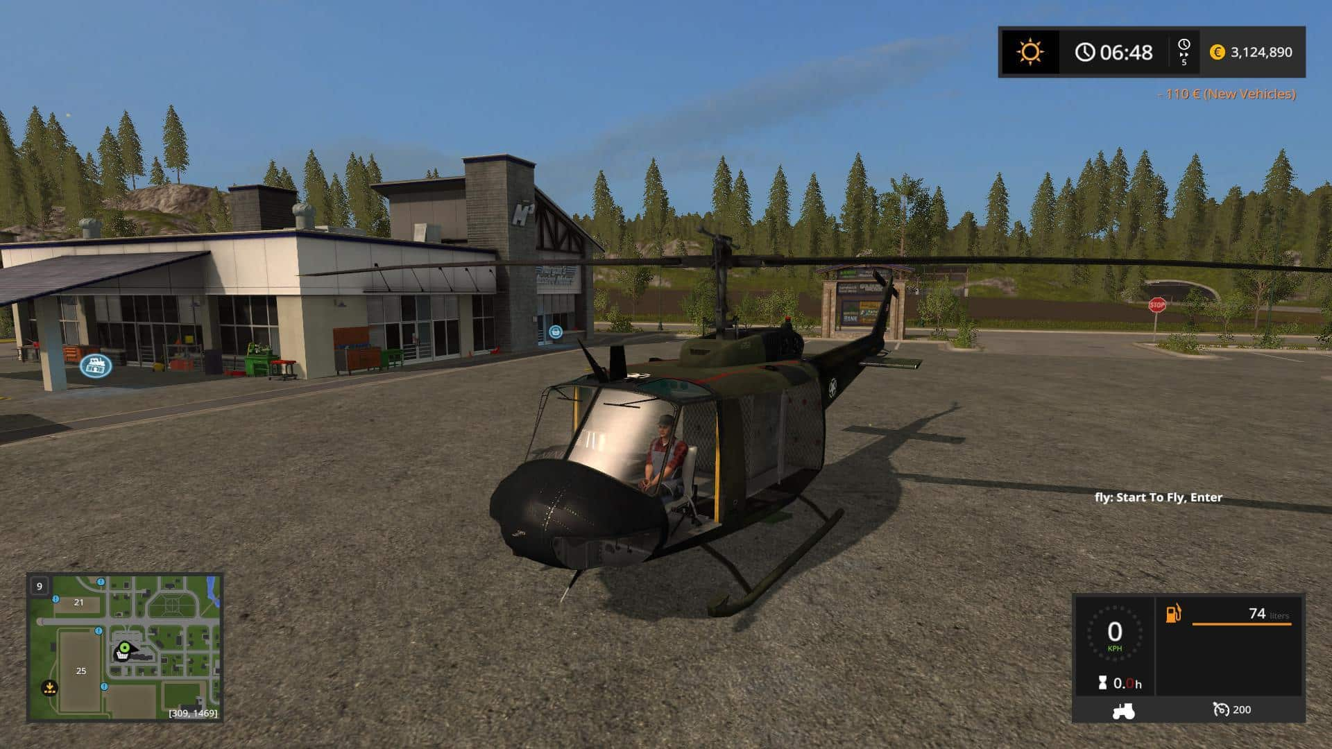 FS17 Bell UH1D US ARMY v1.0