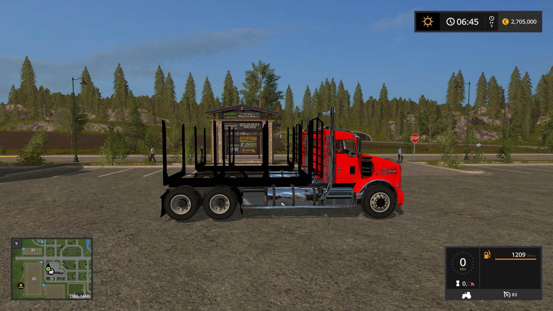 KW T800 Log truck Pack v1.0