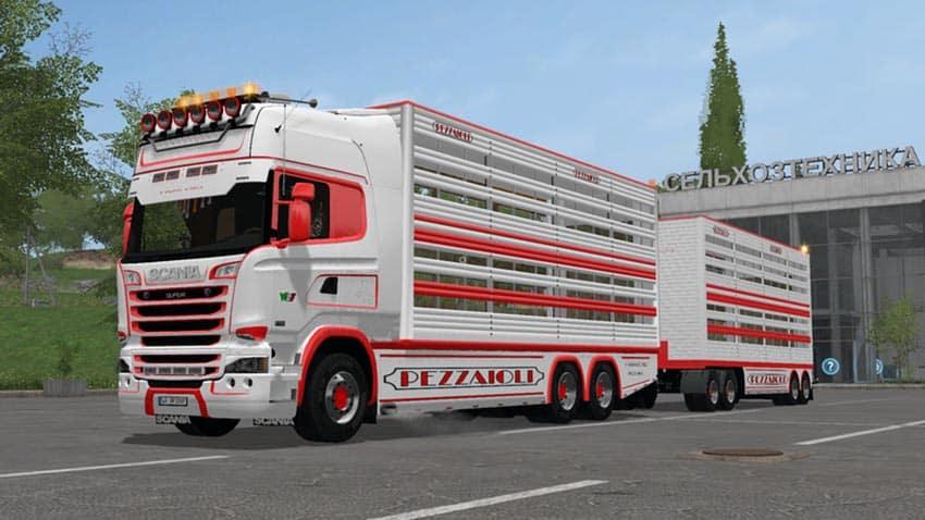 Scania R730 animal transports V 2.1 [MP]