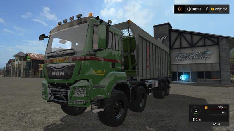 MAN TGS with Fliegl extension v4.1