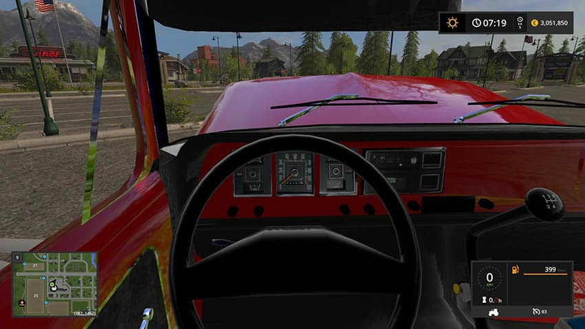 1972 Ford f600 Fire truck v 1.0
