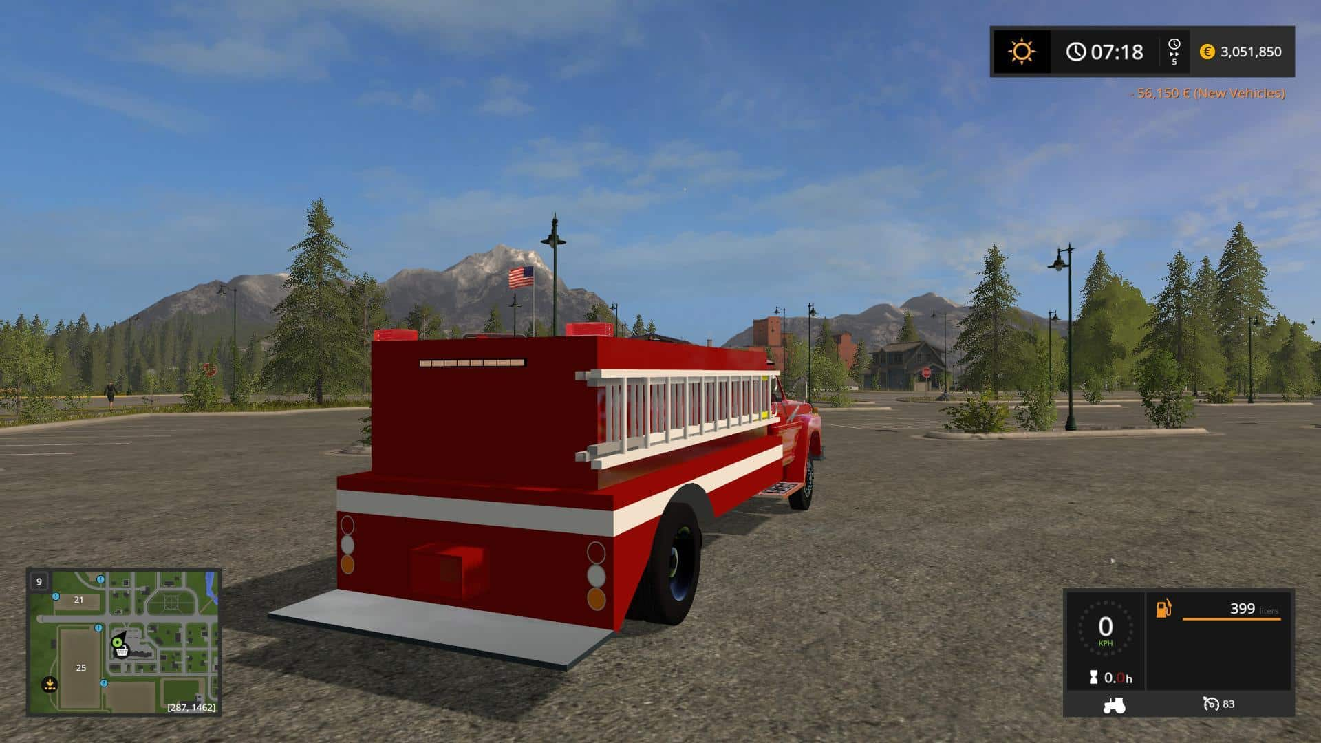 1972 Ford f600 Fire truck v1.0
