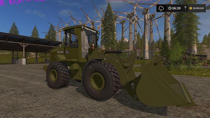 Army John Deere 524K v 1.0