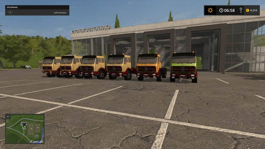 Mercedes Benz NG with tipping trailer V 1.0 [MP]