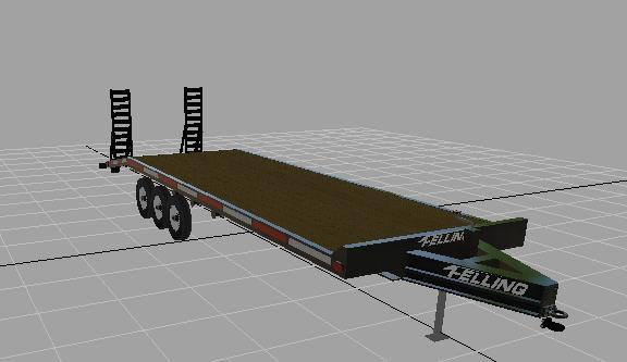 Felling vehicle trailer beta