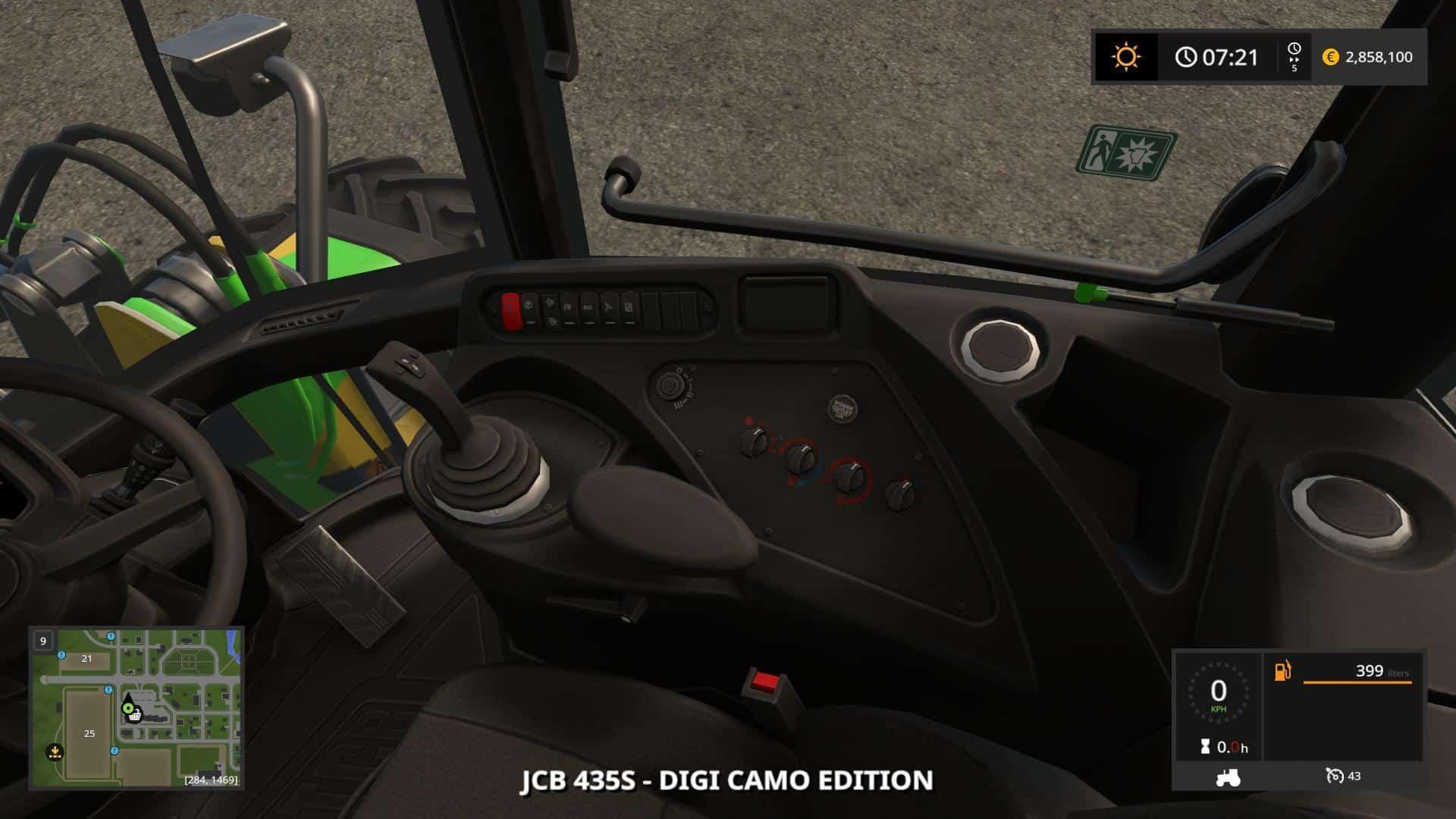 JCB 435S DIGITAL CAMO EDITION v1.2