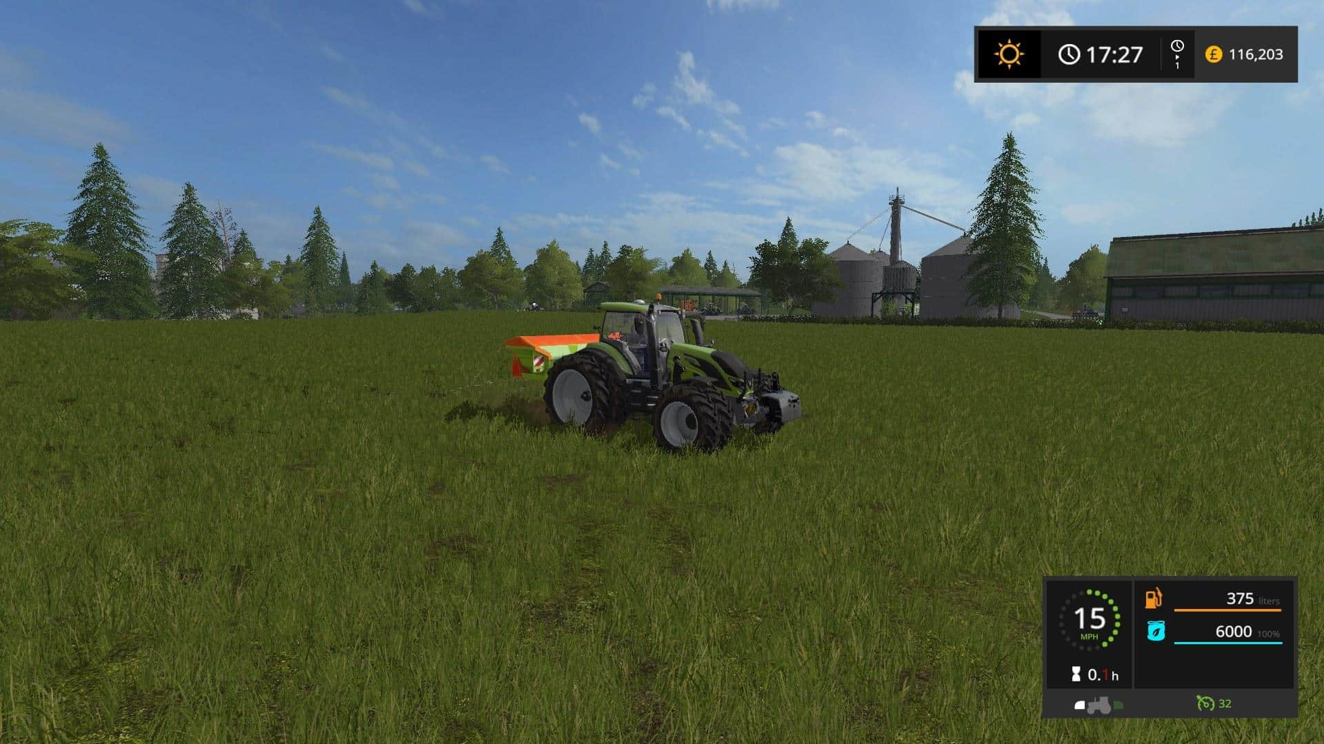Kuhn small Cultiplough + Two Tractors