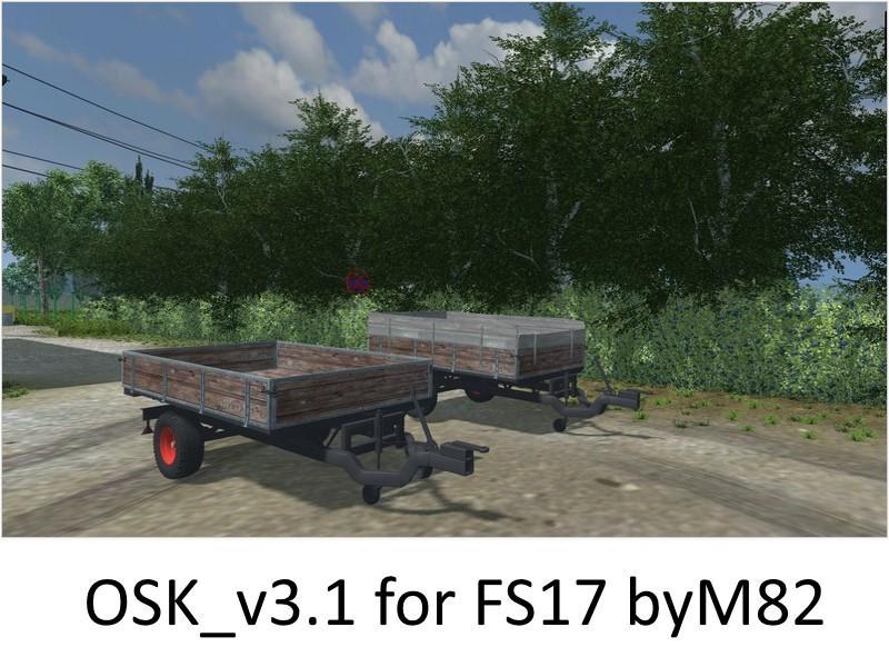 OSK single axle trailer v3.1