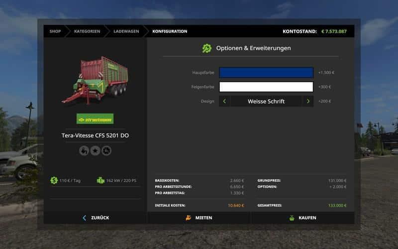 Strautmann Tera Vitesse 5201 DO colorable v1.0