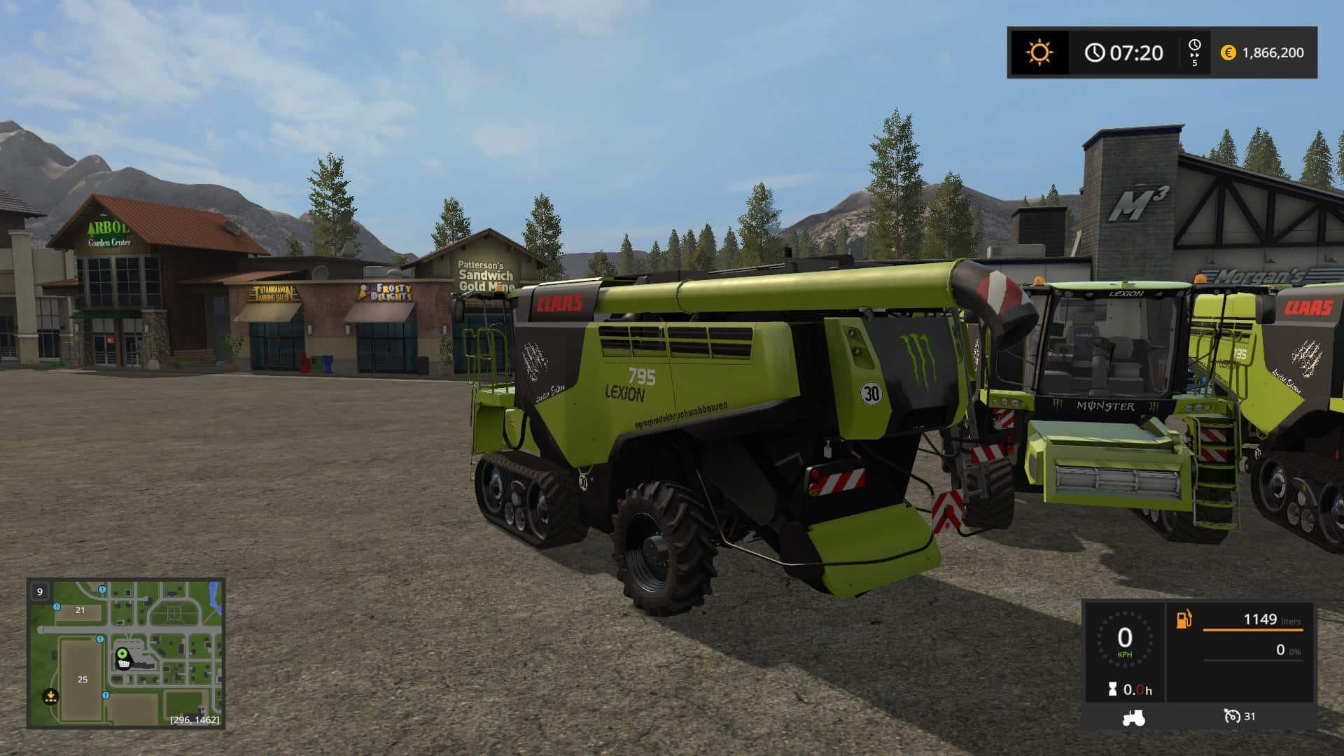 Claas Lexion 795 Monster v1.0