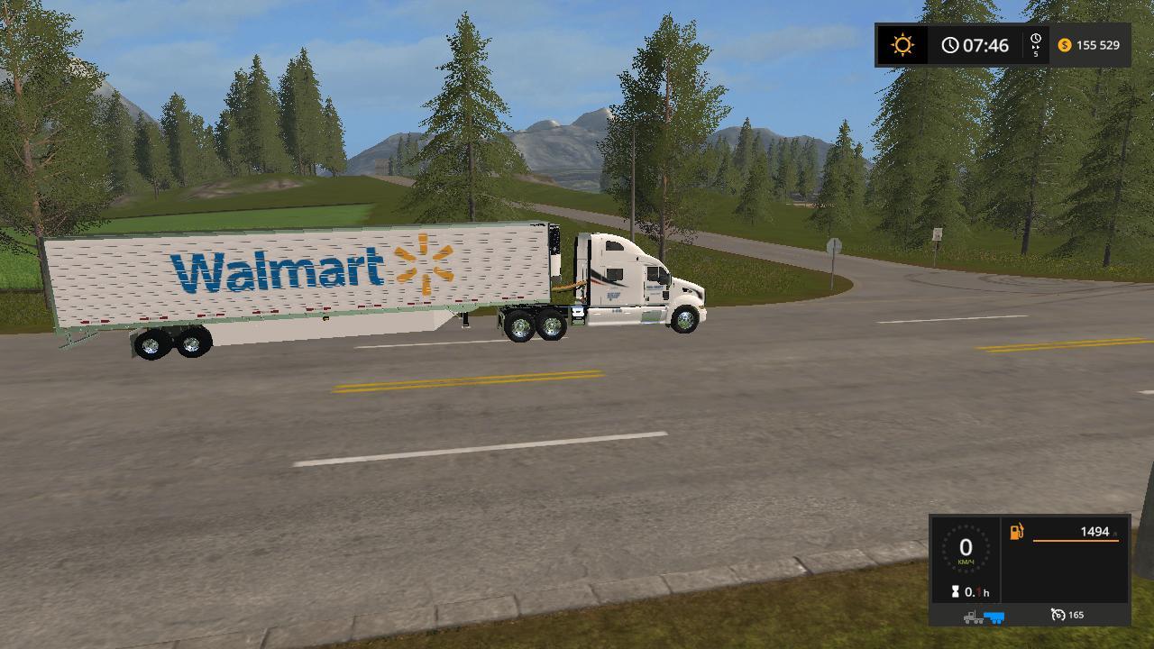 Walmart Peterbilt and Trailer v1.0.0.0