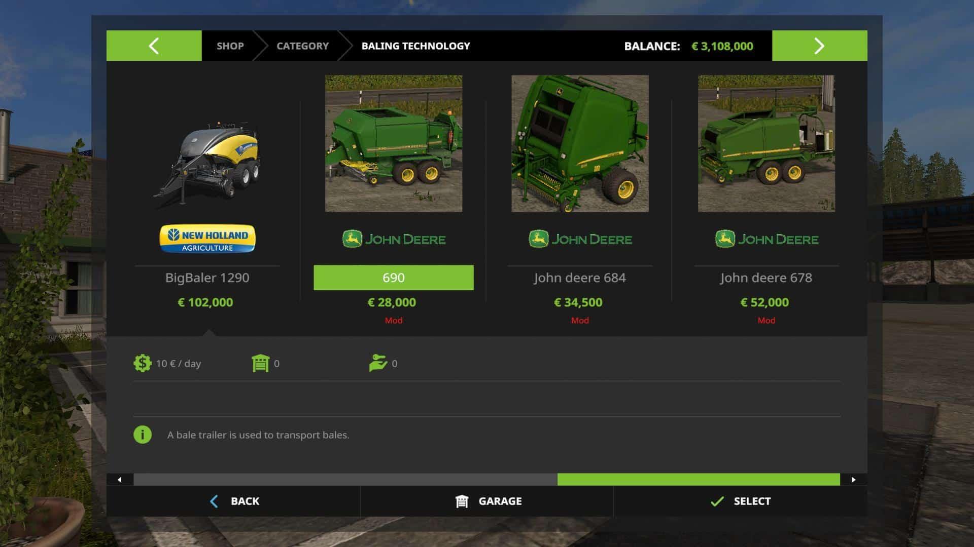 John Deere Premium Balers V3.0