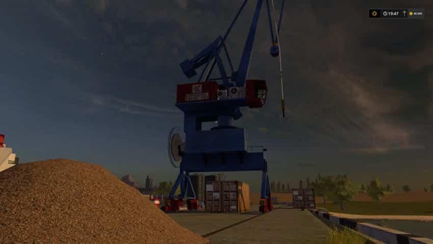 Harbor crane with spline V 1.0 [SP]
