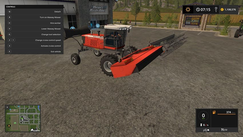 Massey Swather Mower v 1.0