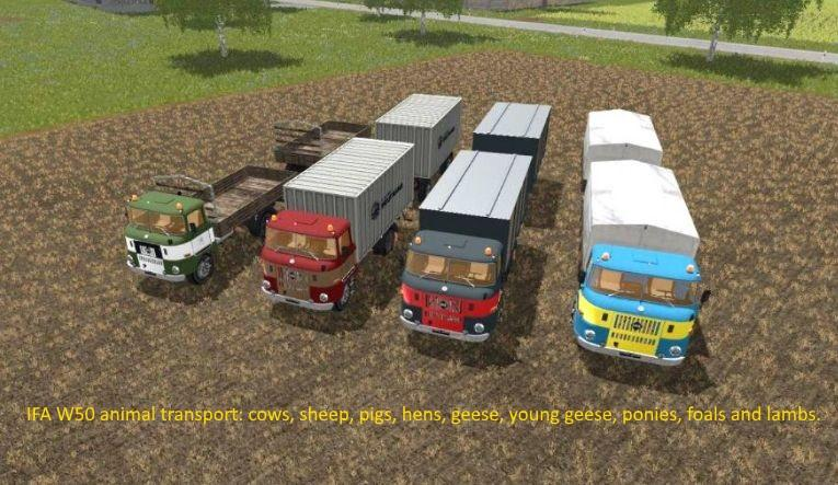IFA W50 Animal Transport Ext v1.0