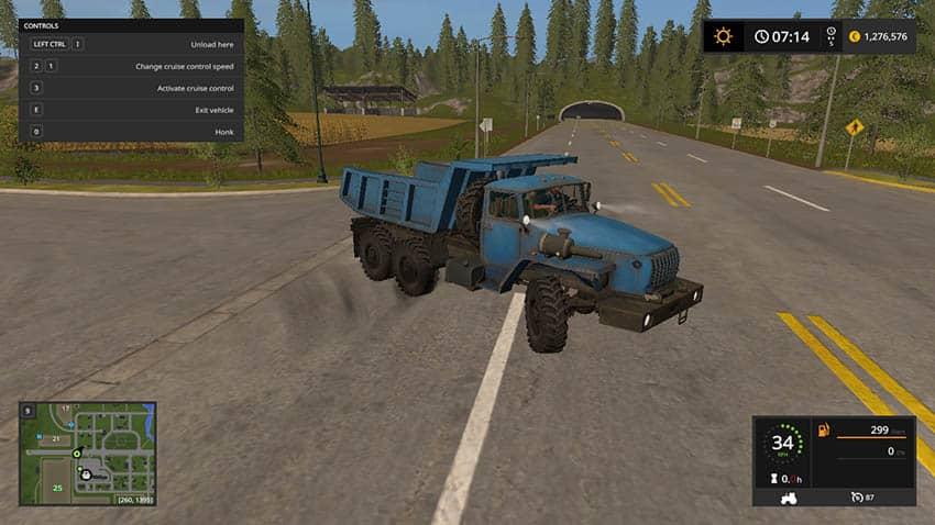 1979 Ural 4320 Dump Truck v 1.1 [MP]