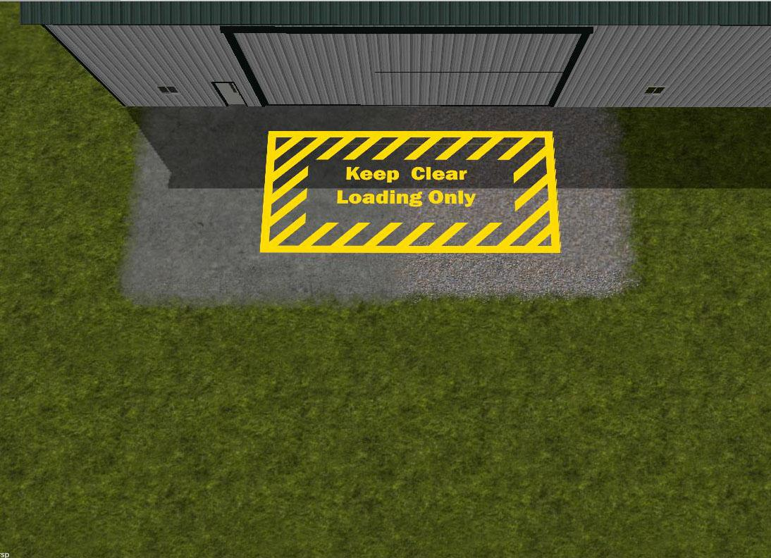 Keep Clear/ Loading Bay marking v1.0