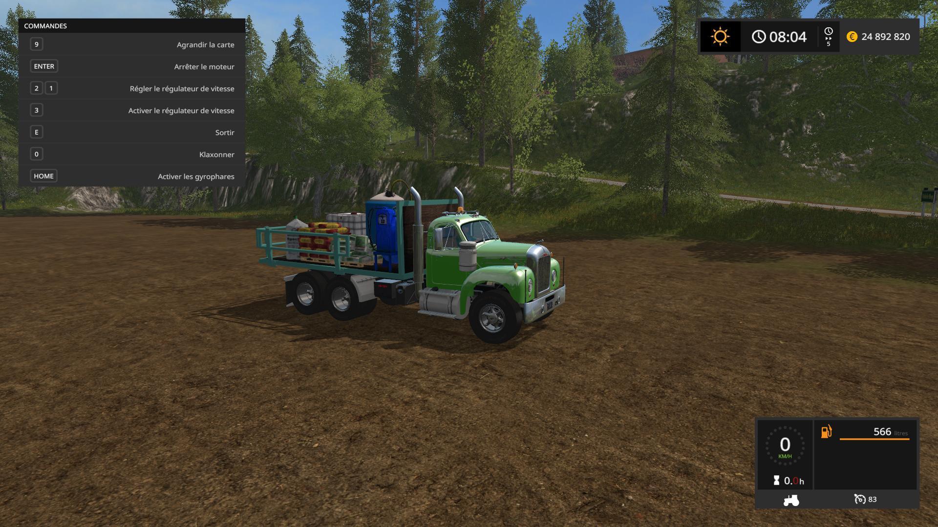 Mack Truck Fertilizer : Mack b v service fs mod
